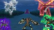 Five Bakugan faces Bakuzon