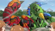 Three Skorporos battle again