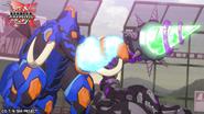 Skorporos and Trunkanious with their Baku-Gear