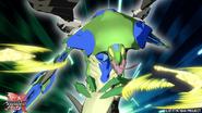 Fangzor X Aquos attack with its Baku-Gear