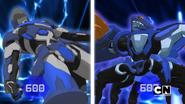 Vicerox and Fade Ninja in Bakugan form
