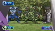 Maxotaur, Hydranoid and Centipod in battle