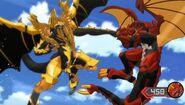 Drago facing Auxillataur