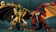 Drago and Auxillataur in the battle