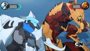 Maxodon and Cycloid facing Fusion Bakugan