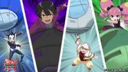 Riot, Kurin, Brakken and Chad in battle