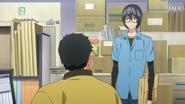 Kosugi rozmawia z Aidą