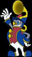 BW 2D art Happy Horn