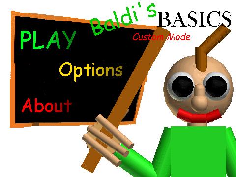 Codes For Baldi Basic Roblox Baldi S Basics Custom Mode Baldi S Basics Fanon Wiki Fandom