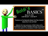 Baldi's Basics 3 Year Anniversary Presentation!