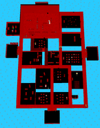 Schoolhouse birds-eye view red
