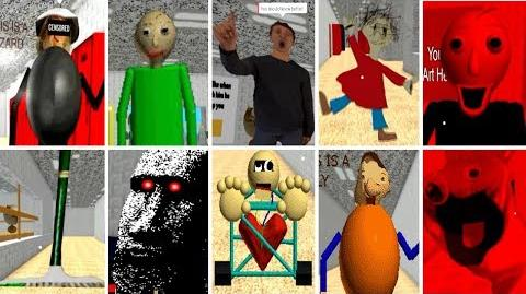 ALL CHARACTERS! Baldi's Basics in Education and Learning (BETA)