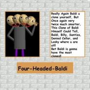 4-Headed-Baldi Poster