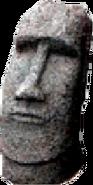 SCM701B Sculpture Statue Moai Easter Island Head Basalt 5