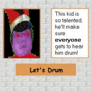 Lets Drum Poster ClobeCruxPigeonYT