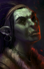 Half-orc (female) BDORCF1 Portrait BG1EE