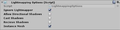 Lightmapping options script settings