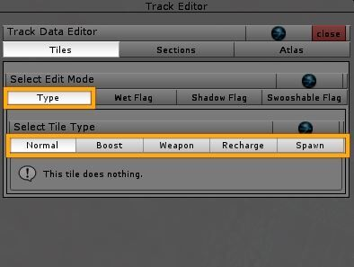 Track Editor > tiles > types