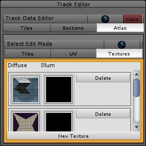 Unity Track Editor: atlas > textures