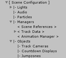 The scene configuration menu item