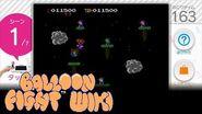 Touch! Amiibo Sudden Famicom Classic Scenes Balloon Fight (Famicom) Demo Gameplay