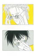 Ash and Eiji wearing sunglasses