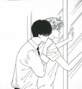 Eiji leans on Ash