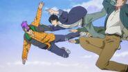 Shorter jumps to catch Eiji