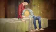 Ash and Eiji moment