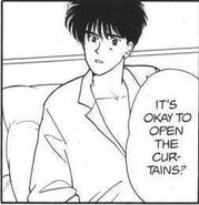 Eiji asks Ash if it's okay to open the curtains