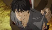 Eiji cries for Shorter's death