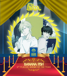 Banana Fish 5th place Anime Of The Year AnimeTrending.png