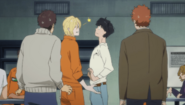 Ash winks at Eiji