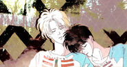 Akimi Yoshida Ash and Eiji sleeping together