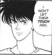 Eiji won't let anybody touch Ash