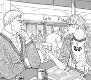 Ash and Max at a cafe