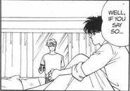 Eiji tells Ash if he says so