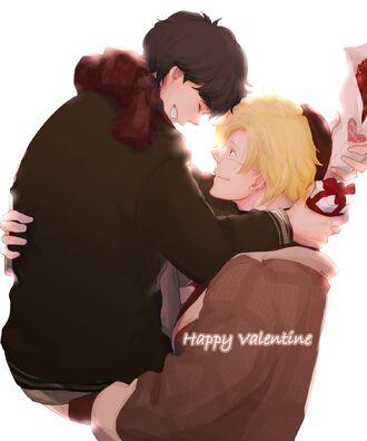 Happy Valentine Ash and Eiji by kiringo69.jpg