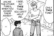 Eiji tells Ash that he can't help him this time