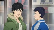 Eiji tells Alex sorry. Don't worry about me