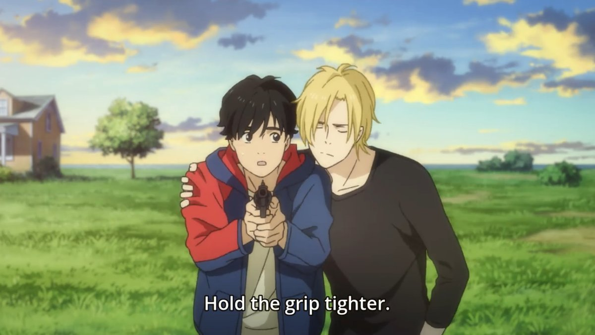 Ash tells Eiji to hold the grip tighter.jpg