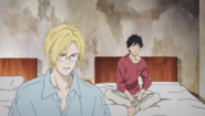 Ash asks Eiji did I wake you