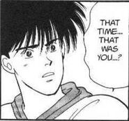 Eiji questions Blanca that it was him
