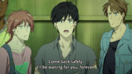 Eiji tells Ash come back safely. I'll be waiting for you, forever