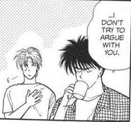 Eiji tells Ash that he tries not to argue with him