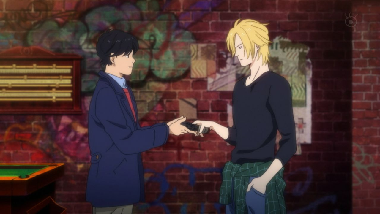 Eiji tells Ash thank you for trusting me with it.jpg