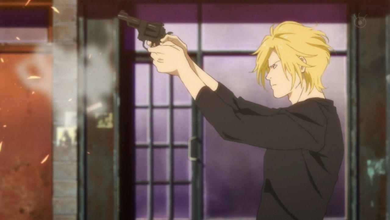 Ash aims at the thugs driving away.jpg