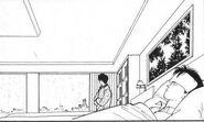Shunichi stands by to watch Eiji