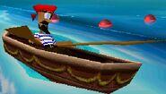 Пират в лодке
