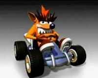 Fake Crash In Kart